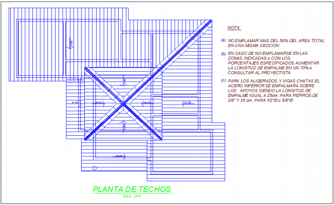 Ceiling plan design view of office area dwg file