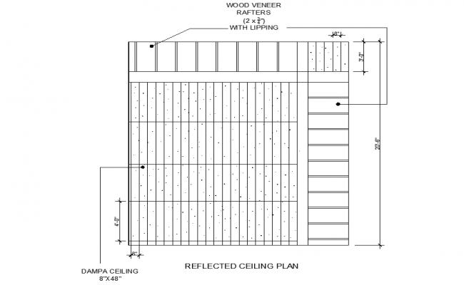 Ceiling plan detail dwg file
