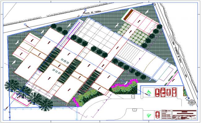 Ceiling plan of Madrid school dwg file