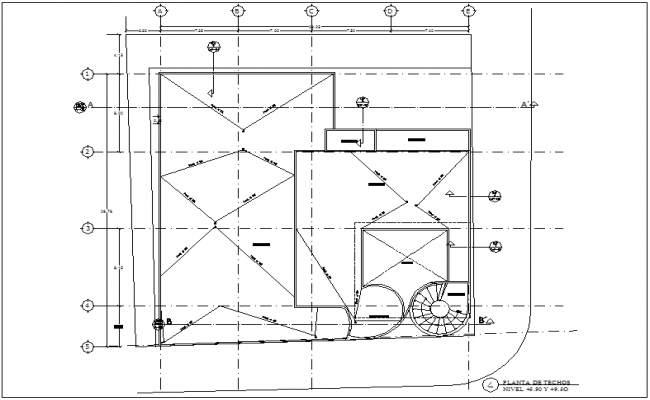 Ceiling plan of clinic view with architectural view dwg file