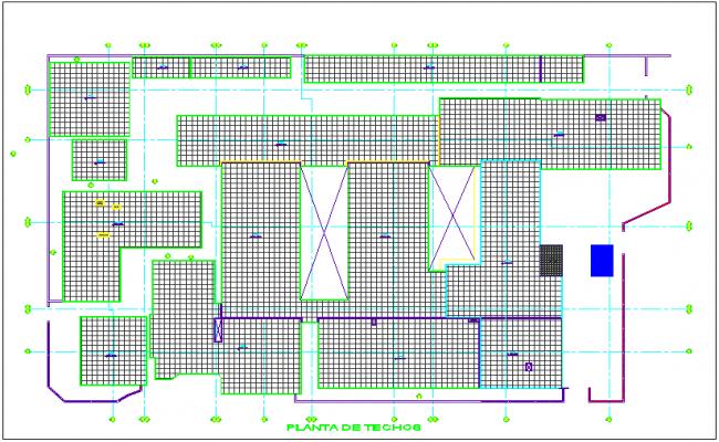 Ceiling plan of hospital dwg file