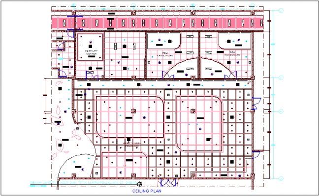 Ceiling plan of maternity hospital dwg file