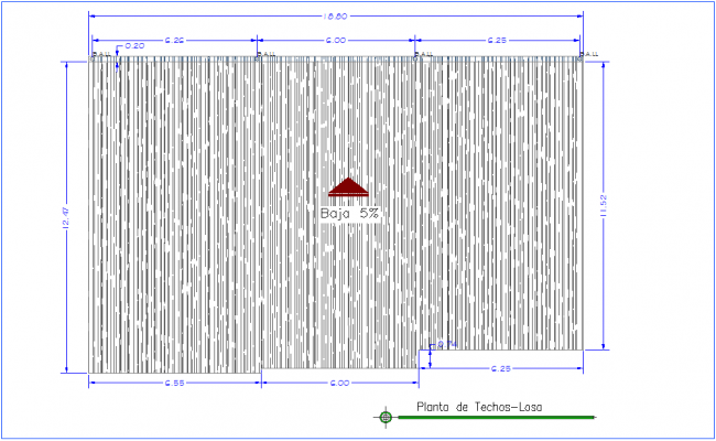 Ceiling plan of office dwg file
