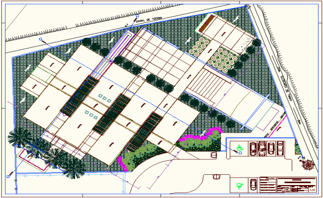 Ceiling plan of school dwg file