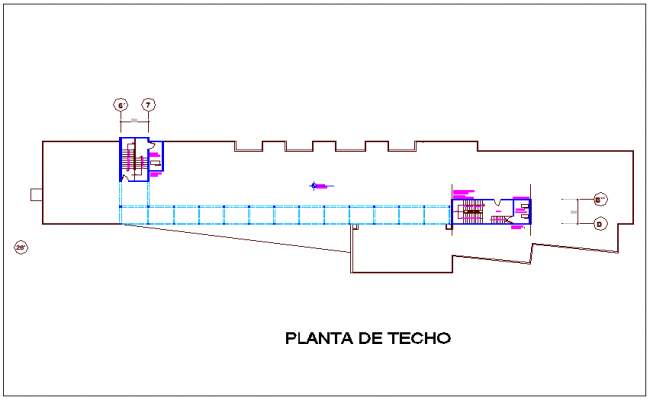 Ceiling plan with construction view for hospital dwg file
