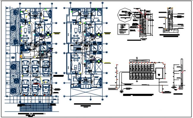 Cellar Electric plan and ground floor electric plan detail dwg detail