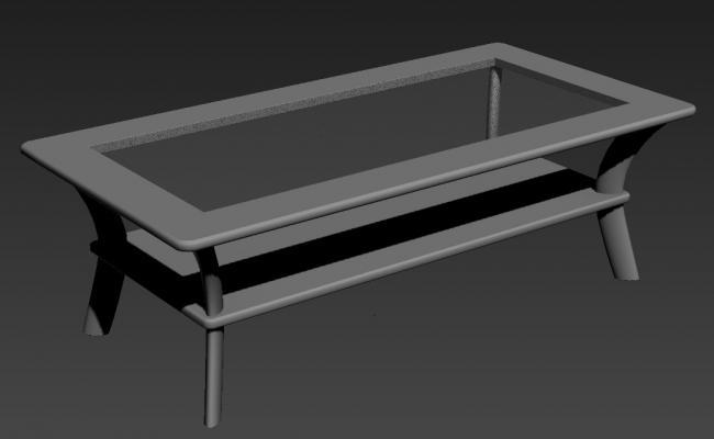 Center Glass Table Design 3d Furniture Block