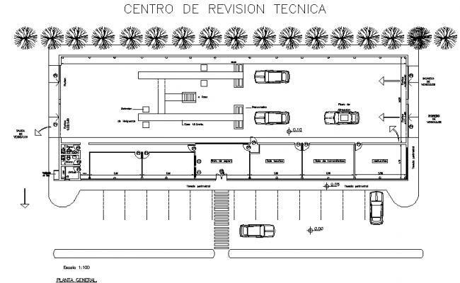 Center in section vehicle detail dwg file