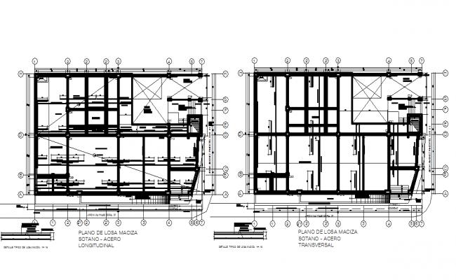 Center line Commercial plan detail dwg file