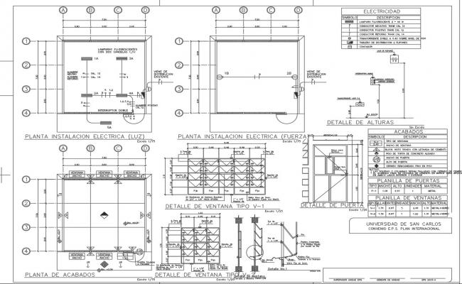 Center line Plan, elevation and section detail dwg file