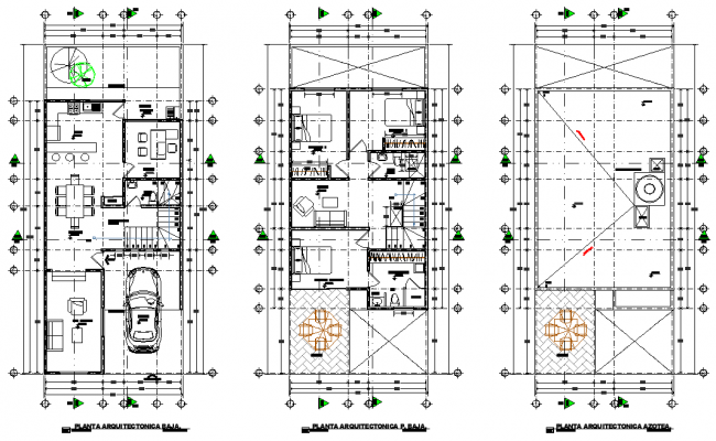Center line home plan layout file