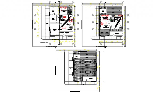 Center line living place detail autocad file