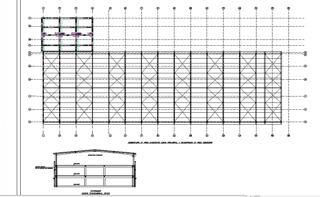 Center line plan detail dwg file
