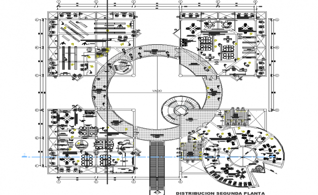 Central library terrace plan dwg file