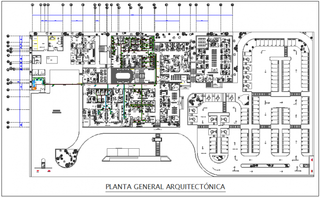 central medical gas system view for hospital general plan