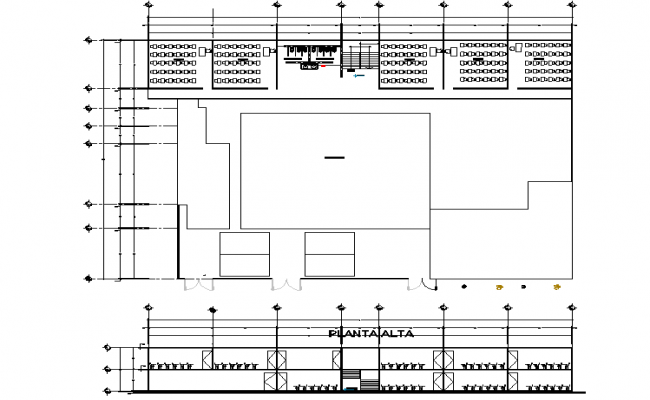 Centre line plan detail and elevation dwg file
