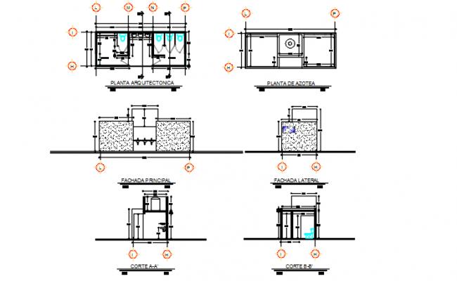 Centre line plan detail dwg file