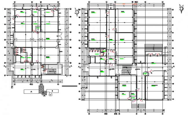 Centre line plan detail dwg file