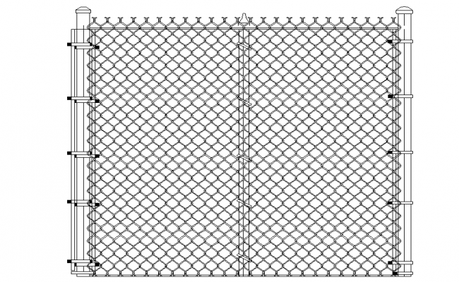 Chain link fence 3d file