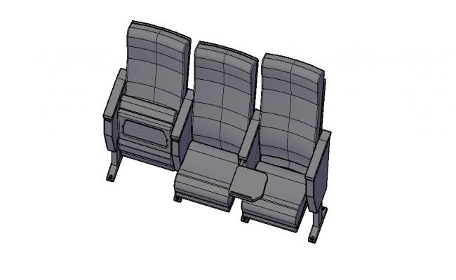 Chair 3D Model In AutoCAD File