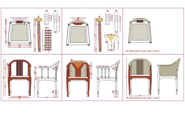 Chair Furniture Design DWG File