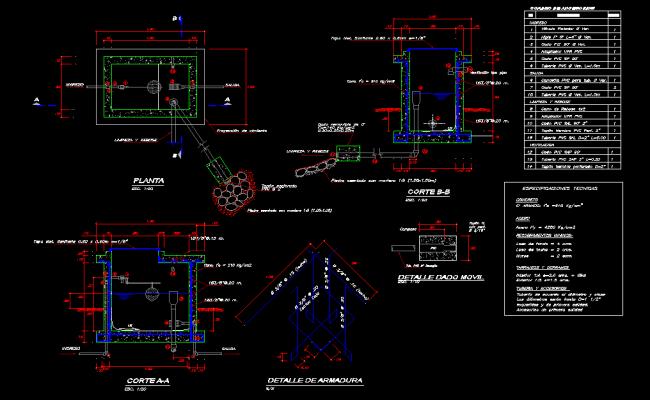 Chamber break pressure plan autocad file