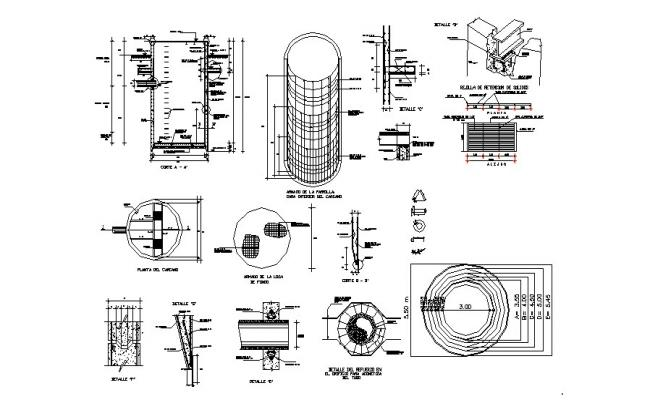 Chamber structure, construction and auto-cad details dwg file