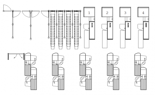 Check out counter plan dwg file
