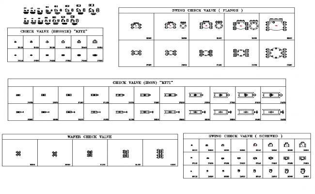 Check valve plan detail dwg.