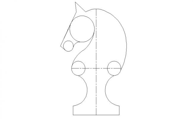 Chess game horse play equipment cad block details dwg file