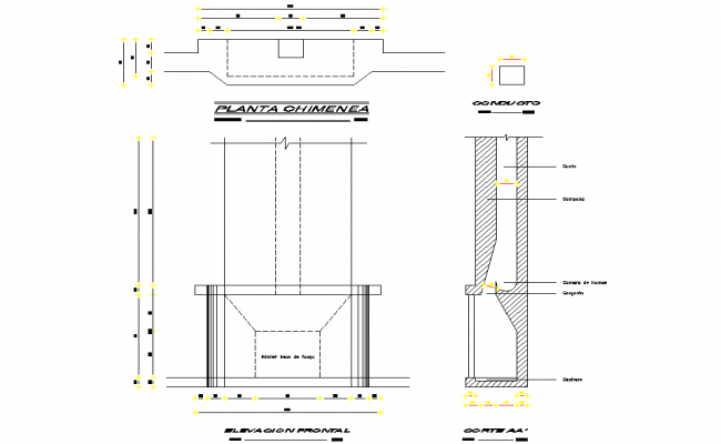 Chimney plan and section layout file