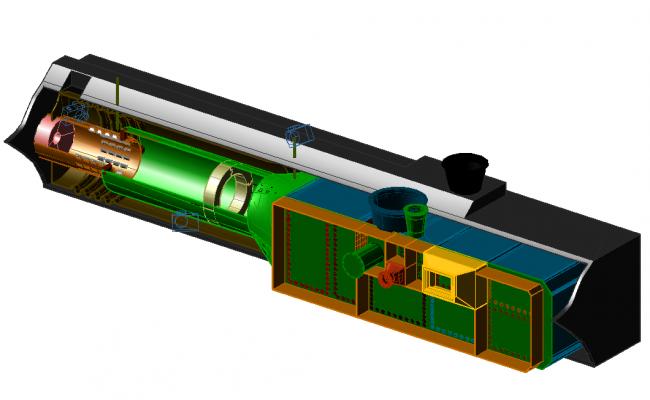 Chinese incinerator 3 D plan detail