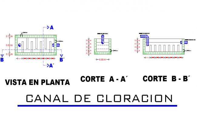 Chlorination channel plan autocad file