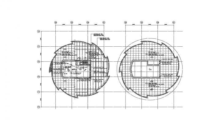 Circle Building Roof Plan