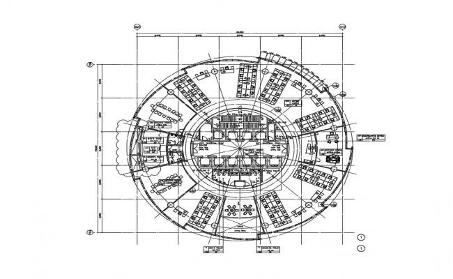 Circle Corporate Building DWG File