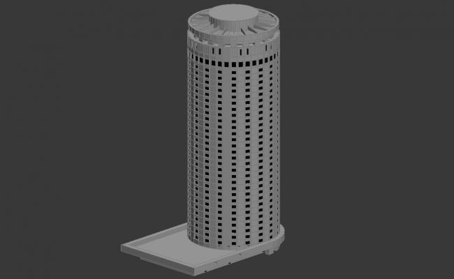 Circular Shape Commerce Building 3d max file