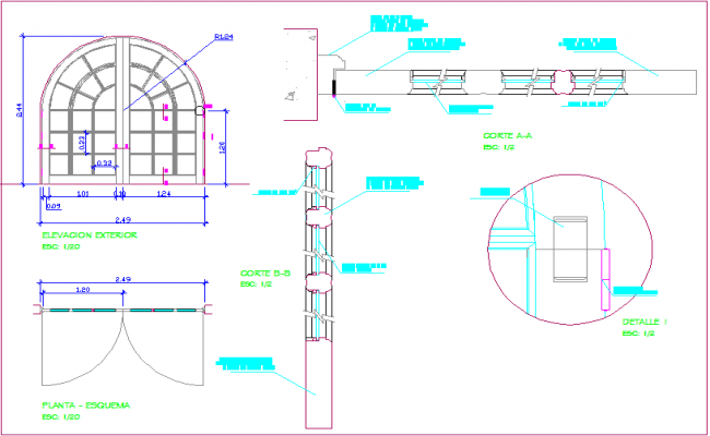 Circular view on upper side of door design