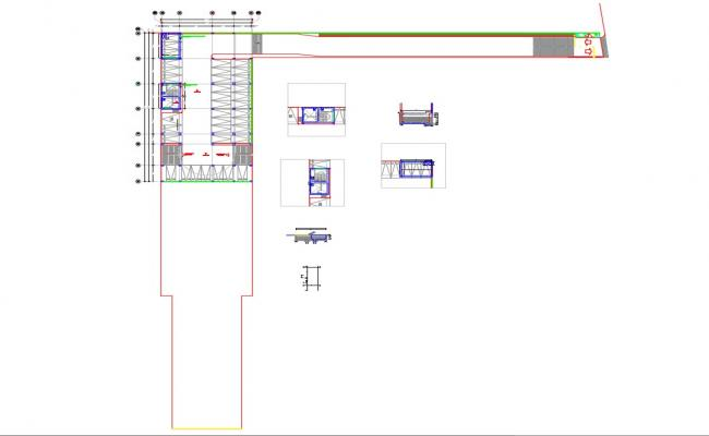 Cistern and storm tank construction cad drawing details dwg file