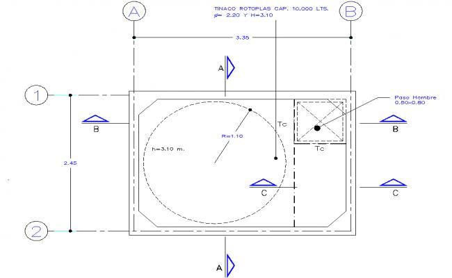 Cistern plan detail