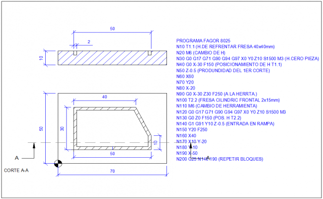 Cistern tank section plan and plan view detail dwg file for Cistern plans