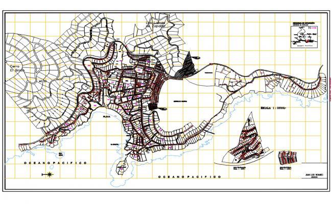 City Zapallar Map DWG File
