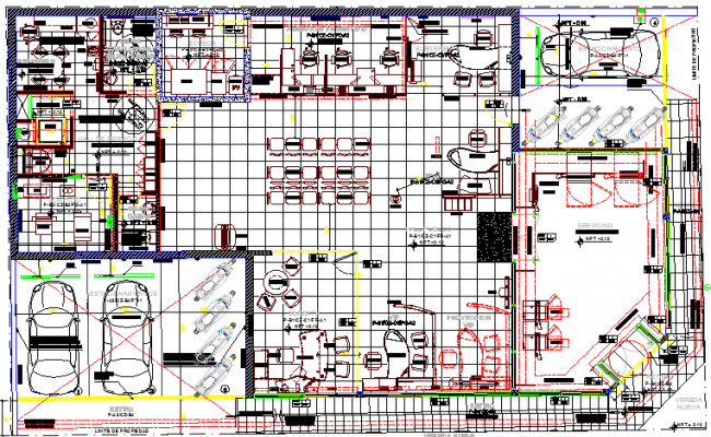 City bank architecture layout plan dwg file