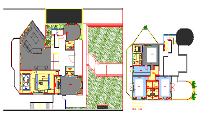 City sports center architecture layout plan details dwg file
