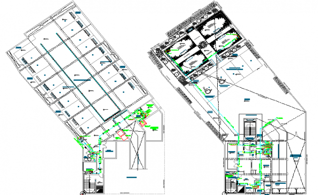 Civil layout plan and ducting detail