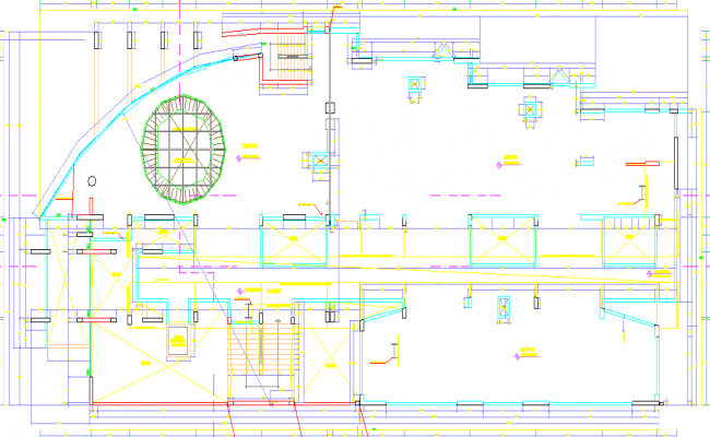 Civil layout plan and ducting details dwg file