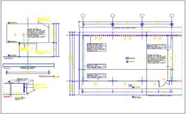 Class room architecture layout plan of school dwg file