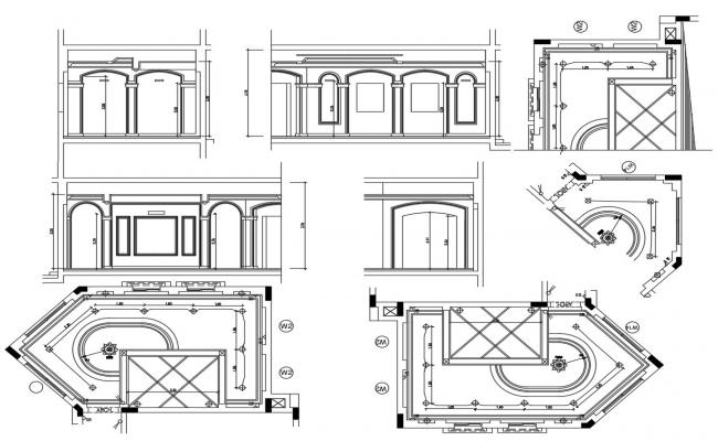 Classic Bedroom Ceiling Design DWG File