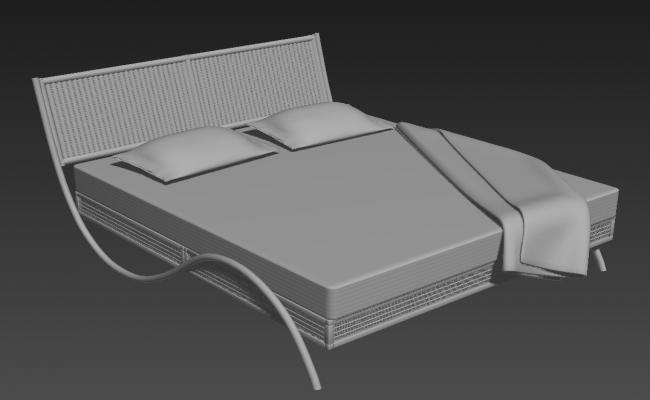 Classic Double Bed Design 3ds Max File Free Download