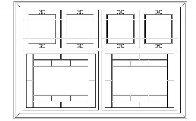 Classical window elevation