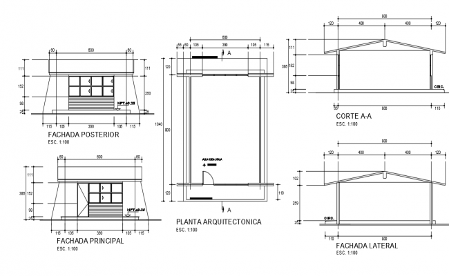 Classroom Details AutoCAD Drawings